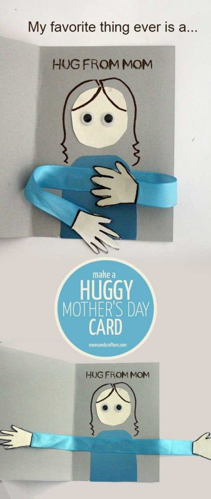 Make an adorable huggy mother's day card craft for kids! Includes a printable template for the color-in outside.