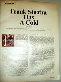 Frank Sinatra Has a Cold: The gold standard in celebrity journalism, from 1966.
