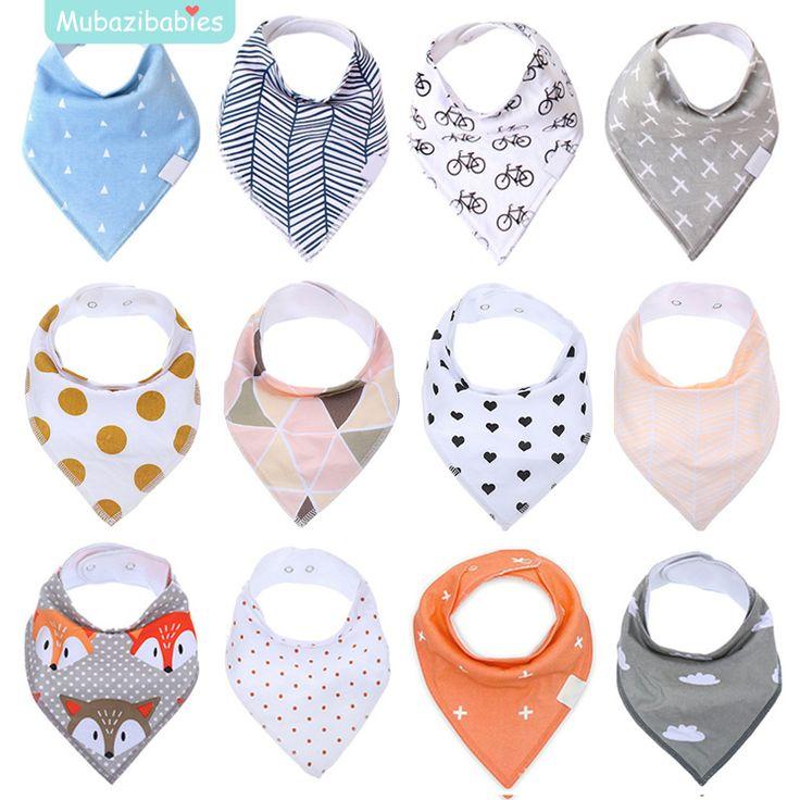 Baby Bib 2017 New Waterproof Saliva Scarf Fashion Print Towel Baberos Bebes Soft Cotton Bibs