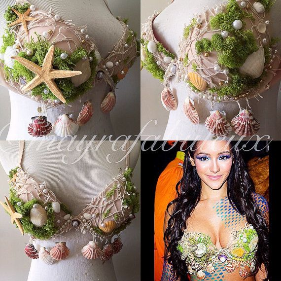 The most perfect bra any mermaid can own in her wardrobe for a Rave or Photo shoot or Costume or just to wear to lay out on the beach.