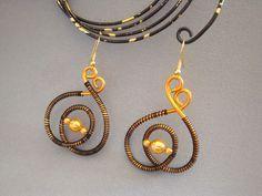 Tutoriel Wire & wire : boucles d'oreilles en fil d'alu () - Femme2decoTV …