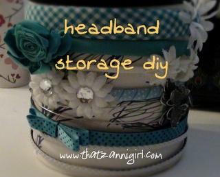 Headband storage diy