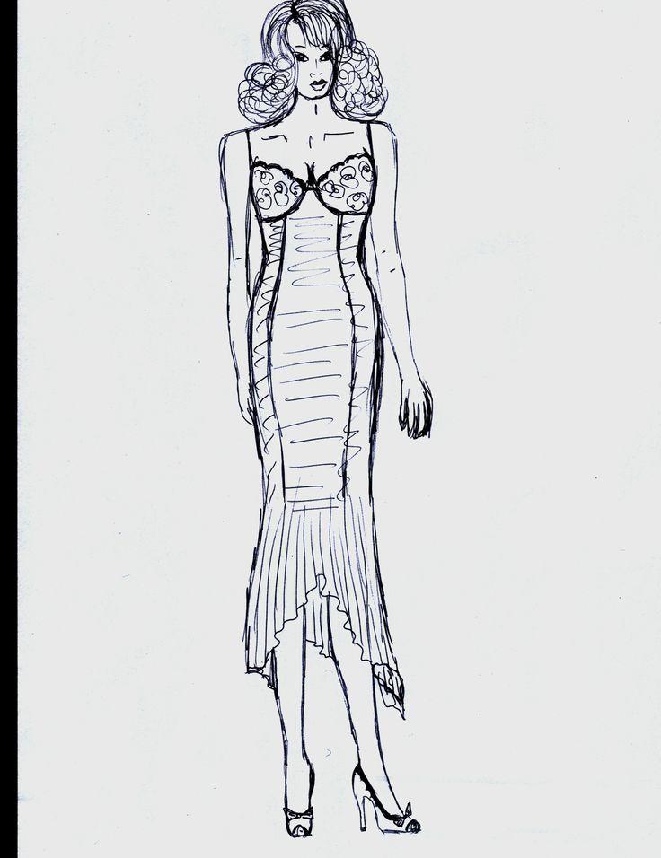 abito tagli laterali e forma seno