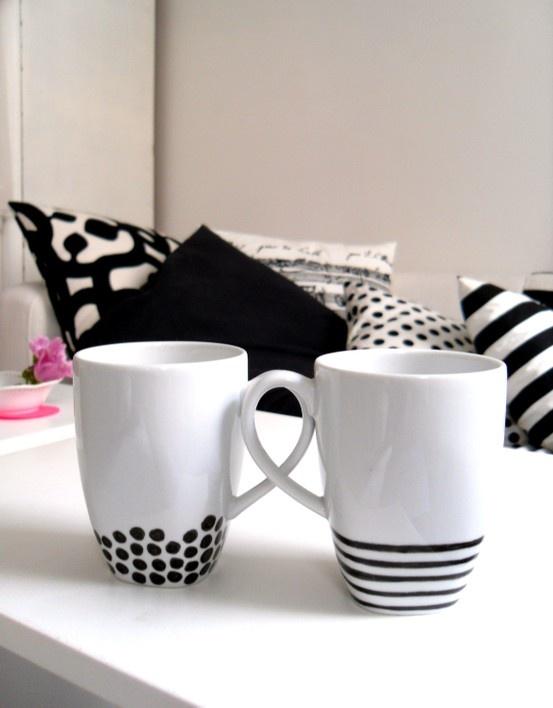 cup DIY inspiration :}