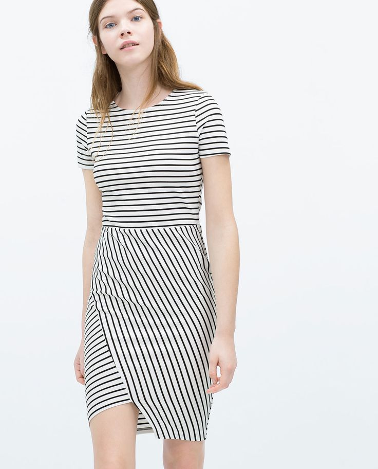 Innovative Zara Tricolour Midi Dress In White  Lyst