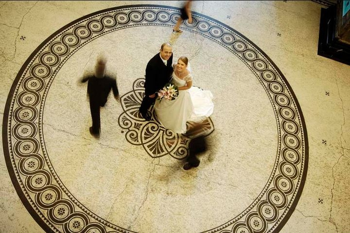 Wedding photo at Brisbane City Hall