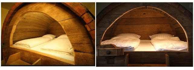 Stay the Night in a Beer Barrel  Well, here's something different – come and stay in a historic beer barrel bed. The barrel is from the 19th Century and was in use until about 1995. One barrel can be rented as a double bed or a single bed.  Location: Ostbevern, North Rhine-Westphalia, Germany Price: $115/night
