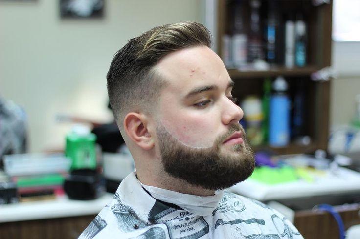 Male Short box beard with great haircut