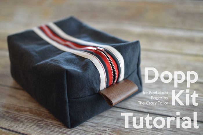 Hi there! Sarah here from The Crazy Tailor with a tutorial to get you ready for Father's Day! A dopp kit, or dopp bag is a small travel bag for men's toiletries. The one I'm making today is made with canvas and ripstop to make a sturdy bag that will travel well! Let's get started! Supplies: 2 – 9 1/2″ x 13″ pieces of canvas,