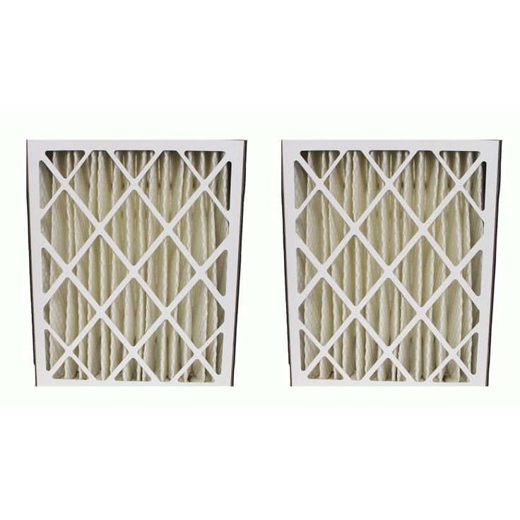 2 Pleated Amana MU2025 HVAC Air Filters, MERV-8 Rating, 20x25x5