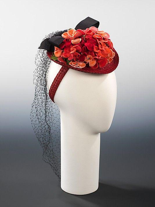 Vintage hat by Miss Sally Milgrim circa 1940