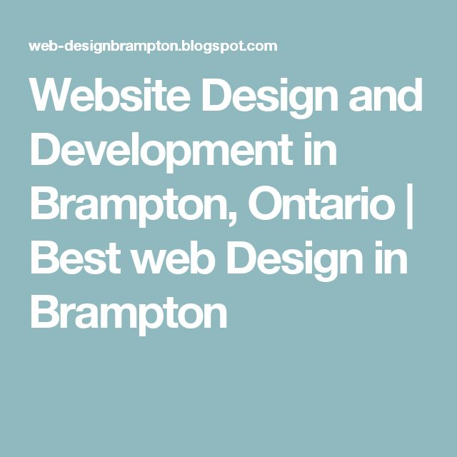 Website Design and Development in Brampton, Ontario | Best web Design in Brampton