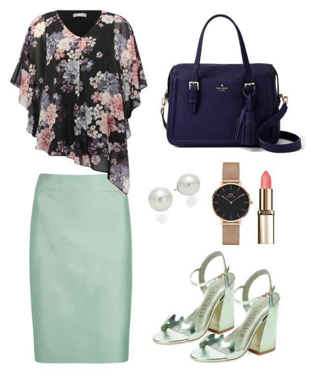 """Wednesday, lunch meeting with client. And use the comfortable shoes. #officelook #officeduty #ayunritaretnani"" by ayunritaretnani on Polyvore featuring Armani Collezioni, M&Co, Ivy Kirzhner, Kate Spade, AK Anne Klein and Daniel Wellington"