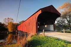 The West Montrose Covered Bridge on the Grand River, Ontario, Canada. It's known locally as the Kissing Bridge. - Google Search