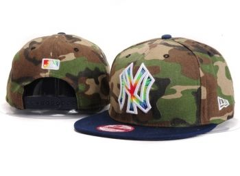 Casquette NY New York Yankees MLB Camo Snapback Marine Casquette New Era Pas Cher