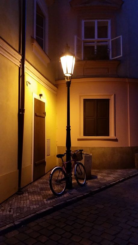 A quiet street close to Maltese Square in Mala Strana (Lesser Town)