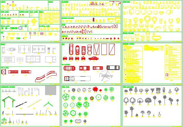 CAD standard block diagram Library