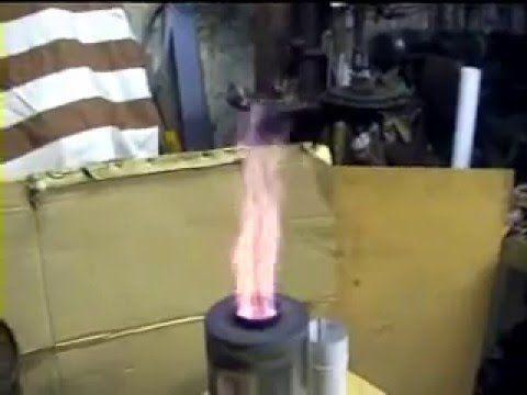 Stufetta piro-gas fiamma a 600 gradi, home made - YouTube