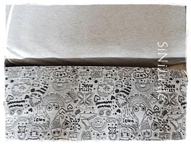 Baumwollmischungen - Swafing Sweat Bielefeld Grafitti uni grau - ein Designerstück von SiNiJu bei DaWanda