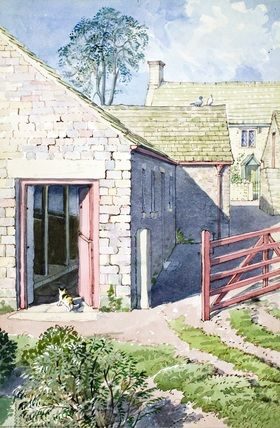 "Cowshed (from vintage English ""Ladybird"" storybooks)"