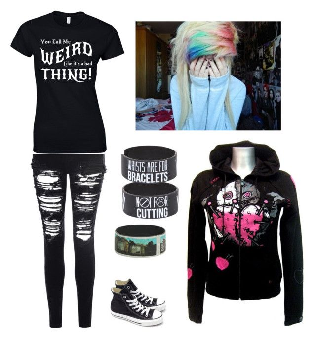 """""""Emo life"""" by i-like-bands-alott ❤ liked on Polyvore"""