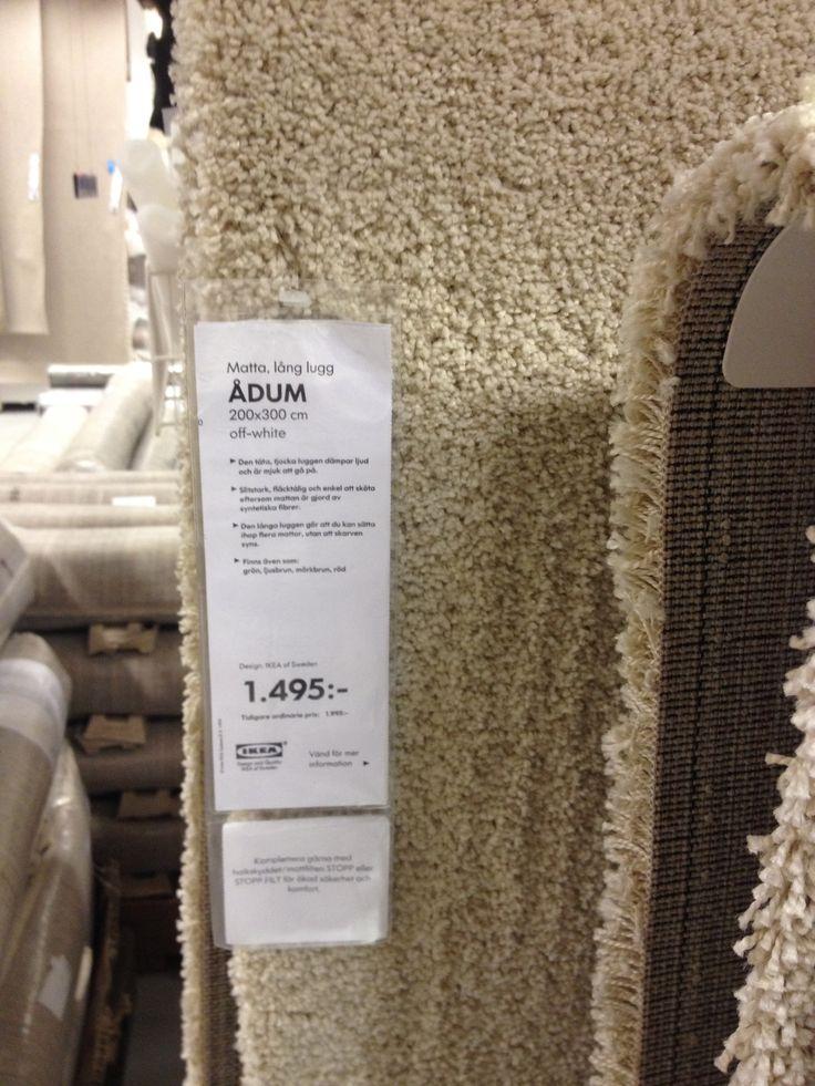 Matta till nedre vardagsrummet IKEA Ådum 200×300 1495 kr