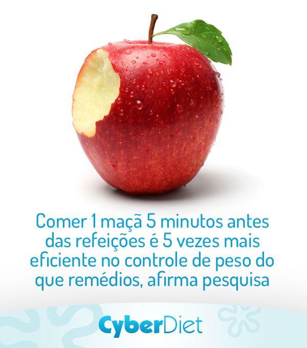Que tal incluir 1 maçã no seu lanche pré-almoço e emagrecer com saúde? Mais dicas em: https://facebook.com/cyberdietoficial
