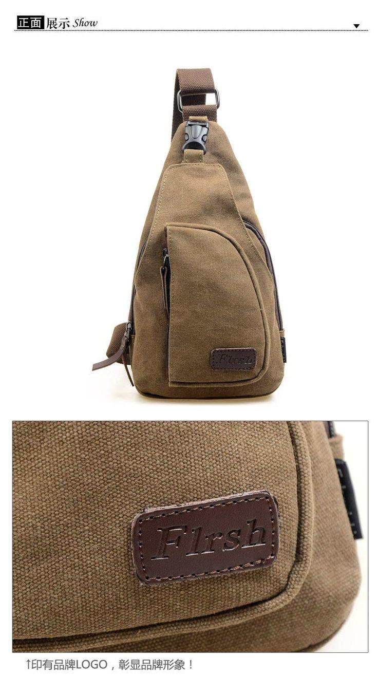 Women/Men Canvas Shoulder Backpack Sling Hiking Shoulder Bicycle Bag Chest Bags | eBay