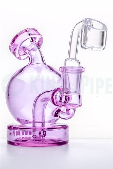 MAVERICK GLASS - MINI BULB BANGER HANGER DAB RIG  on KING's Pipe Online Headshop #420 #710