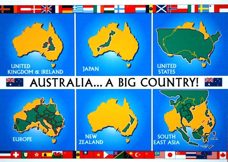 Map Cards From Australia And USA Australia And Western Australia - Map asia us uk australia