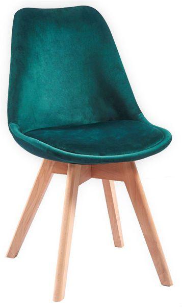 Krzesło aksamitne Dotti zielone / krzesło butelkowa zieleń / green chair velvet