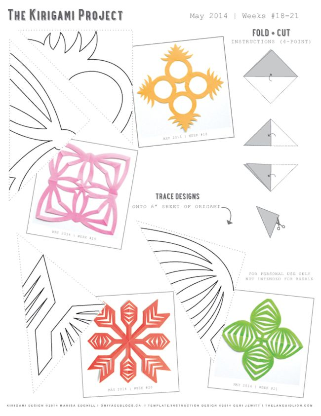 Omiyage blogs the kirigami project week 21 leaves for Kirigami paper art