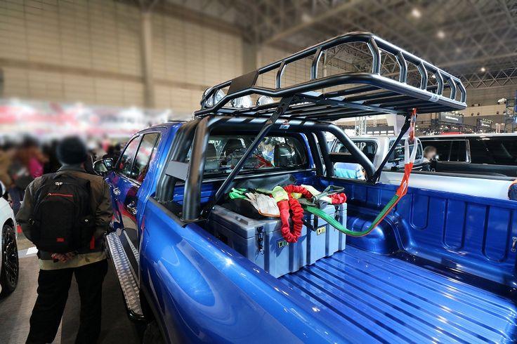 ハイラックスレボ ピックアップトラック 荷台 【東京オートサロン2017】群馬トヨタRVパーク 梯子車体 Hilux Revo - Tokyo Auto Salon2017