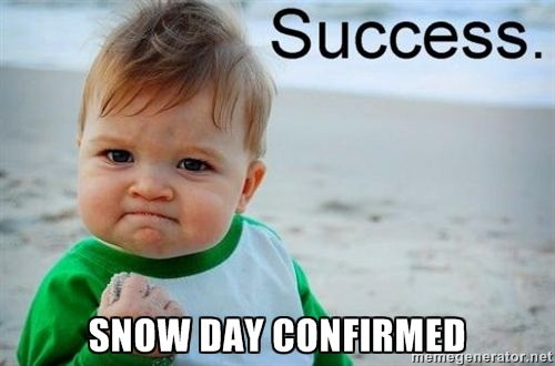 Snow day confirmed - success baby | Meme Generator