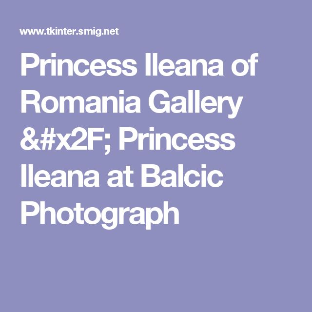Princess Ileana of Romania Gallery / Princess Ileana at Balcic Photograph