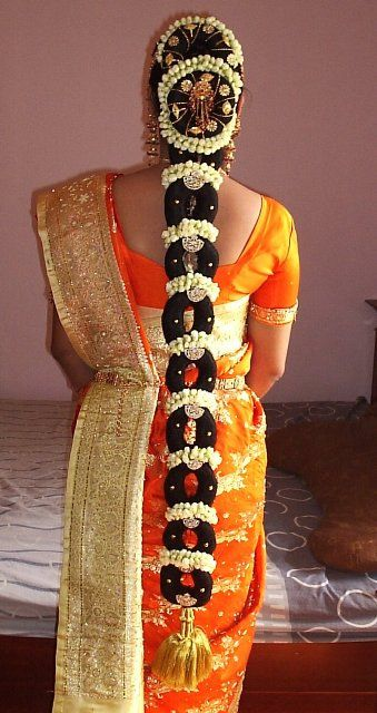 jadai alankaram, Hair Designs|jadamalai for south indian marriage|New and latest hair style for wedding and receptions- Bharatmoms.com