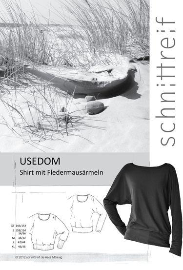 USEDOM  Shirt mit Fledermausärmeln Schnittmuster