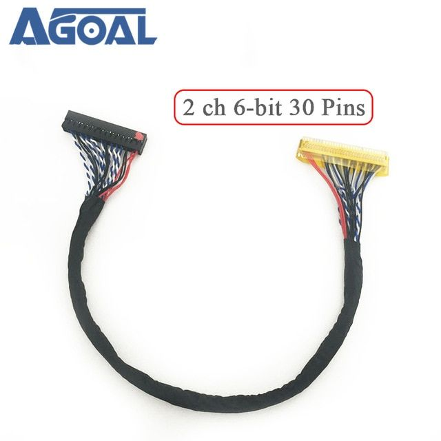 Universal Lvds Cable Fix 30p S6 30pin Double 2 Ch 6 Bit Dual 6bit
