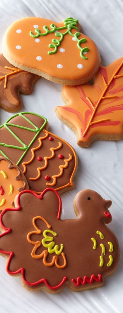Fall Harvest Cookies. No recipe - just decorating inspiration!