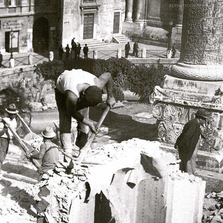 Via dei Fori (1931)  Demolizioni...