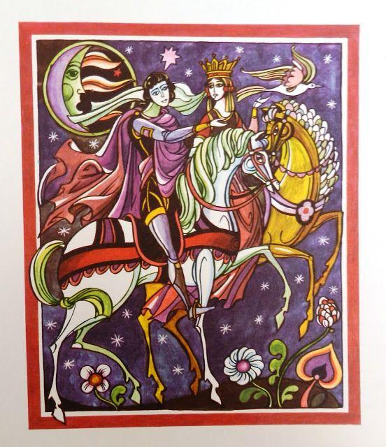 Val Munteanu Povestea Lui Harap Alb Fairytale Illustration