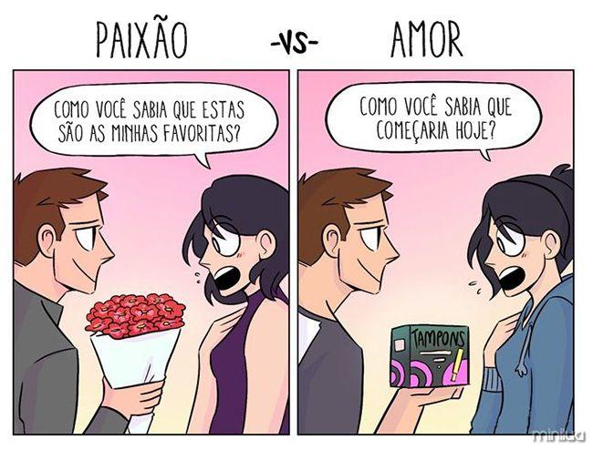 Amor e paixão. Você sabe a diferença?  | Satirinhas