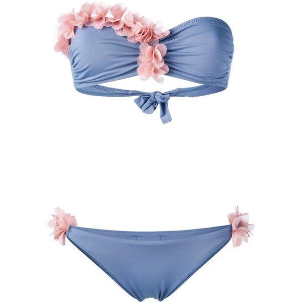 La Reveche Dasha bikini (£110) ❤ liked on Polyvore featuring swimwear, bikinis, bikini two piece, spandex swimwear, bikini beachwear, bikini swimwear and bikini swim wear