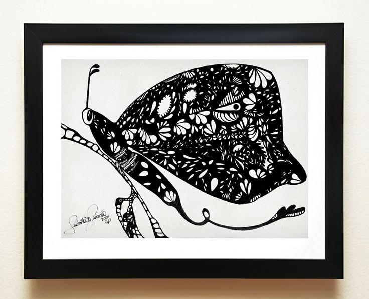 Quadro borboleta do meu paraíso.Esta obra me encanta!Borboletas tem um significado todo especial,a renovação e leveda do simbolismo  me fascina. www.mysticsoul.com.br