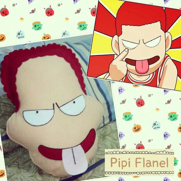 Hanamichi sakuragi Feltdoll made by Pipi Flanel.. Wanna see our feltdolls collection? Please visit our website at www.pipiflanel.com thank you :)