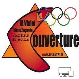 Artisan91 met sa bannière aux couleurs des anneaux olympiques