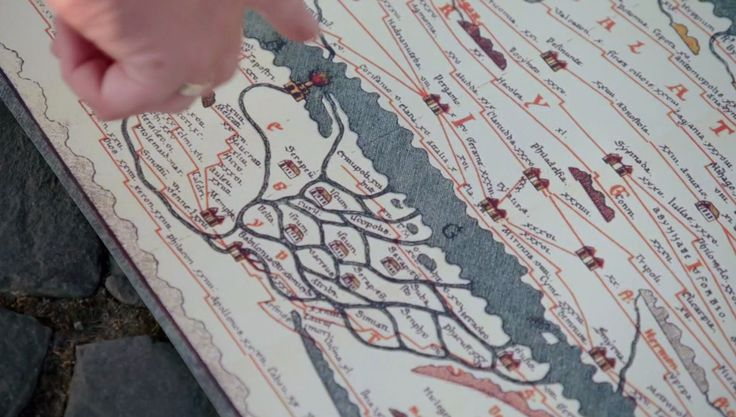 BBC_Mary Beard_MAP_Nile delta_Tabula Peutingeriana_a copy of a 13th Century  parchment copy of an Ancient Roman Map of the Cursus publicus