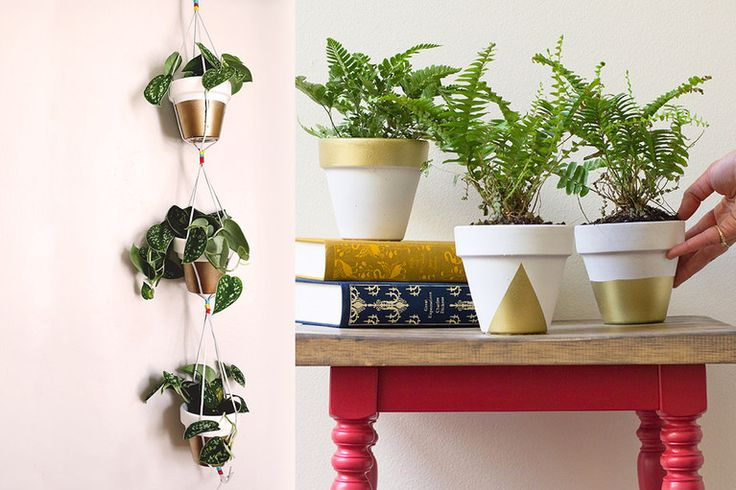Gold Dipped Planters - Darby Smart