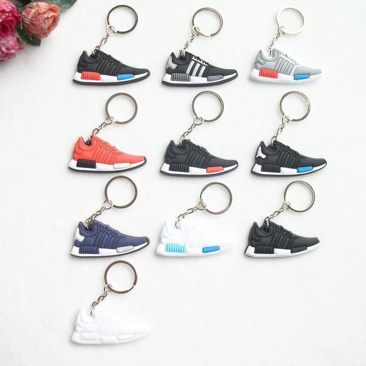 New Mini Silicone NMD Key Chain Jordan Keychain Key Ring, Sneaker Keychain Men Key Holder for Woman and Girl Gifts