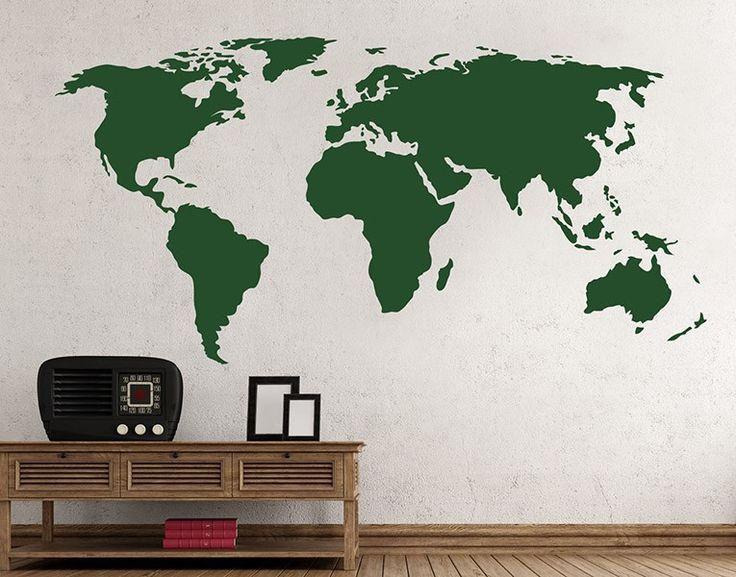 Die besten 25+ Wandtattoo weltkarte Ideen auf Pinterest - wandtattoos für wohnzimmer